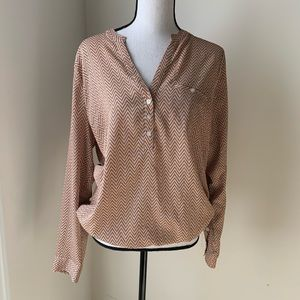 The Limited Chevron Blouse